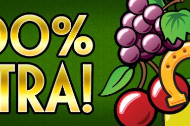 Todos los meses consigue un bono del 100% en Tragaperra-online