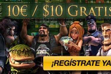 Recibe 10$ gratis con solo registrarte en Tragaperras-Online